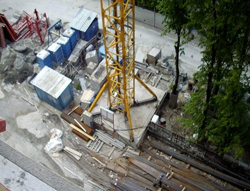 Фото фундамента под башенный кран